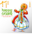 kathakali dancer on advertisement and promotion vector image vector image