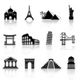 landmarks icons vector image