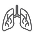 lungs line icon biology and body organ sign vector image vector image