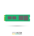 M2 Solid State Drive vector image vector image