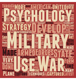 Military Psychology The Latest Developments text vector image