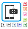 mobile camera framed icon vector image