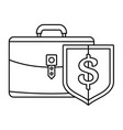 money leather case icon outline style vector image vector image