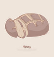 natural rye bread fresh sliced sweet bun tasty vector image
