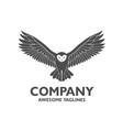 owl fly logo vector image vector image