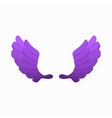 Pair of violet wings icon cartoon style vector image