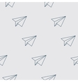 Paper Planes Seamless Pattern Repeating abstract vector image vector image
