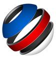 patriotic tricolor globe vector image vector image