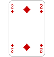 Poker playing card 2 diamond vector image vector image