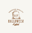 premium quality halloween party logo or label vector image vector image