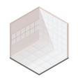 realistic isometric tiles vector image vector image