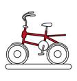 red bike design vector image