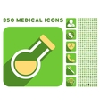 Retort Icon and Medical Longshadow Icon Set vector image