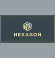 rn hexagon logo design inspiration vector image vector image