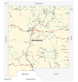 road map us american state new mexico vector image vector image