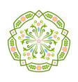rosemaling floral ornaments in traditional vector image vector image
