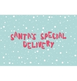 Santa Special Delivery on a light blue background vector image
