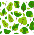 seamless flat pattern trees and leaves vector image vector image