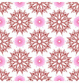 Seamless of stars like flowers and weaving flowers vector image vector image