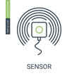 sensor outline icon with editable stroke vector image vector image