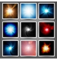 Set Abstract light background vector image vector image