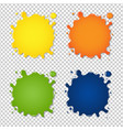 set colorful blots vector image