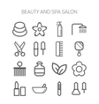 Set of simple icons for beauty spa salons web vector image