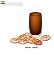 Sharbat-e Khakshir A Popular Drink in Iran vector image vector image