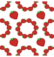 Strawberry seamless pattern2 vector image vector image