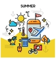 Summer line banners vector image vector image