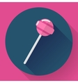 Sweet candy Pink lollipop vector image vector image