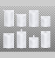 templates blank white doy packs set realistic vector image vector image