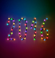 The text of the 2016 Christmas lights vector image