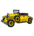the vintage yellow roadster vector image vector image