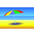 Umbrella on sunny beach vector image vector image