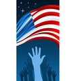 USA elections waving flag vector image