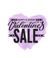 valentines day salegrungy heart creative flyer vector image