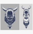 viking warrior with optional helmet vector image vector image