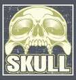vintage grunge style skull hand drawing vector image vector image