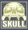 Vintage grunge style skull hand drawing