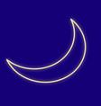 weather moon sky vector image