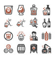 whisky icon vector image