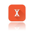 x roman numeral orange square icon with vector image