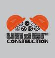 icon under construction helmet gear vector image