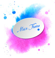 Watercolor design element pink-blue spot for the vector image