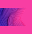 3d abstract background with paper cut neon vector image vector image