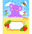baby elephant cadr vector image vector image