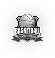 basketball logo template design vector image