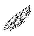 boat icon doodle hand drawn or outline icon style vector image vector image