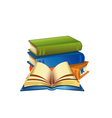 books 2 vector image